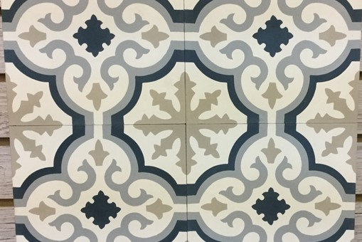 French Encaustic Cement TIles Alamo Stone - Faux encaustic tile