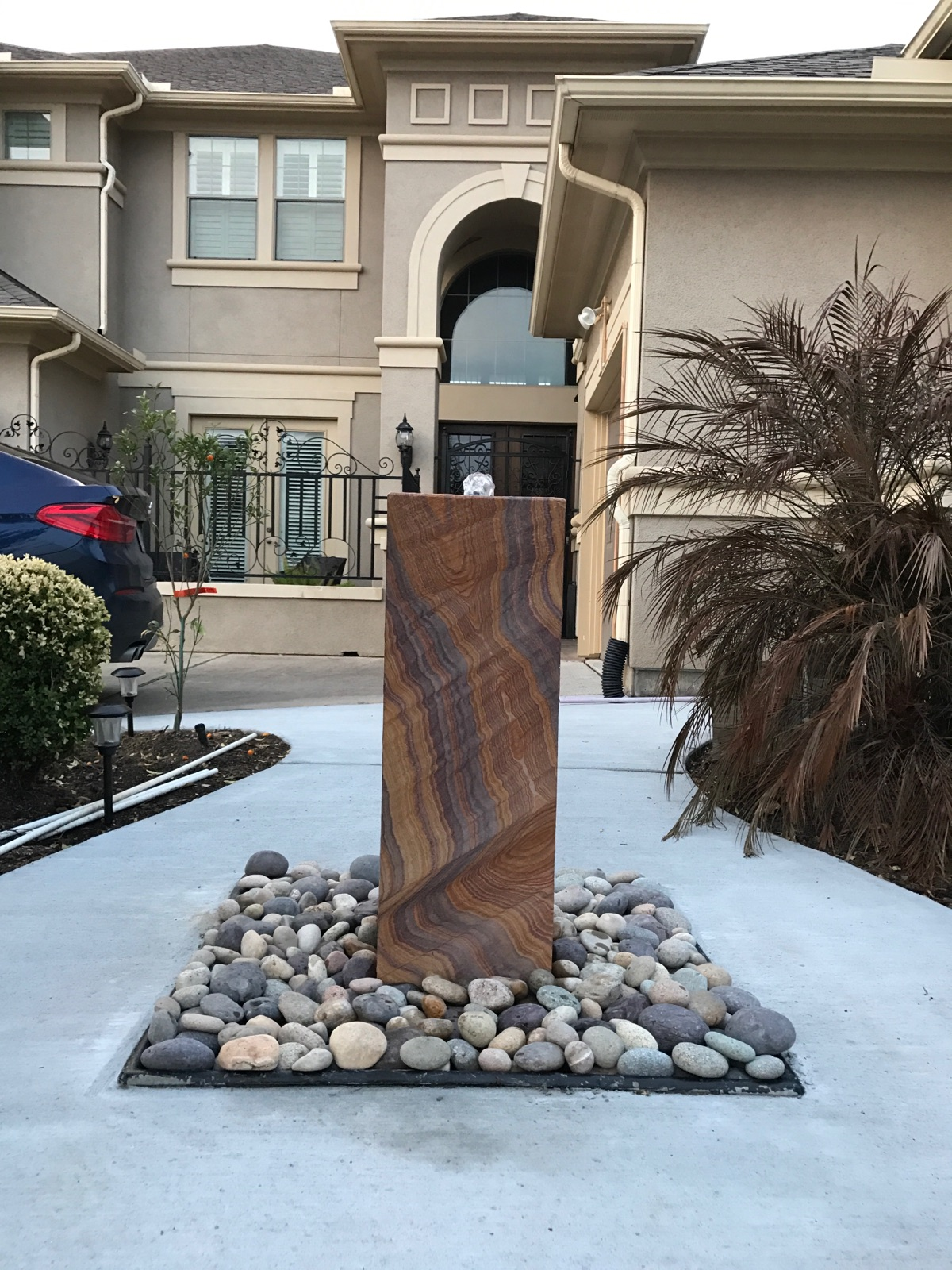 Rainbow Teakwood Fountain - Alamo Stone Premier Stone Suppliers Houston,Tx